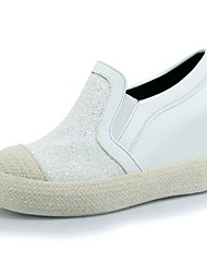 Women's Loafers & Slip-Ons Spring / Fall Wedges / Round Toe Outdoor / Dress / Casual Wedge Heel Slip-on