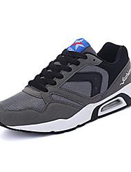 Femme-Sport-Noir / Bleu / Gris-Talon Plat-Confort / Bout Arrondi-Sneakers-Tulle