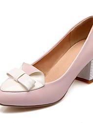 Damen-High Heels-Hochzeit / Büro / Kleid / Lässig / Party & Festivität-Kunststoff / Lackleder / Kunstleder-Blockabsatz-Absätze / Pumps /