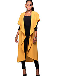 Women's Casual/Daily Simple / Street chic Bandage Fashion Plus Size Spring / Fall Cloak/CapesSolid Cowl Sleeveless