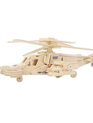Quebra-cabeças Quebra-Cabeças 3D / Quebra-Cabeças de Madeira Blocos de construção DIY Brinquedos Helicóptero Madeira BegeModelo e Blocos