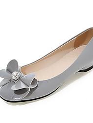Damen-High Heels-Hochzeit Büro Kleid Lässig Party & Festivität-Kunststoff Lackleder Kunstleder-Flacher Absatz-Komfort Neuheit Pumps-