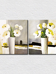 Canvas Set Floral/Botanical Modern,Two Panels Canvas Square Print Wall Decor For Home Decoration
