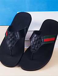 Men's Slippers & Flip-Flops Summer / Fall Flip Flops Leather Casual Flat Heel Others Blue / Green / Gold Others