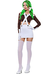 Costumes More Costumes Halloween White / Fuschia Solid Terylene Top / Skirt / More Accessories