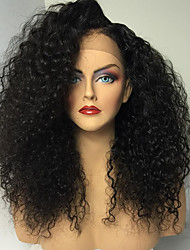 Hot Long Kinky Curly Wigs With Baby Hair Glueless Virgin Brazilian Human Hair Glueless Full Lace Wigs For Women