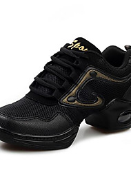 Homme-Extérieure / Décontracté-Noir-Talon Plat-Bout Fermé-Sneakers-Toile