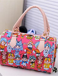 Women PU Casual Outdoor Tote White Red