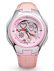 Kids' Wrist watch Digital Watch Water Resistant / Water Proof Digital Leather Band Cartoon Heart shape Pink