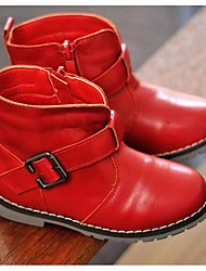Girl's Boots Comfort Cowhide Casual Black / Brown / Red
