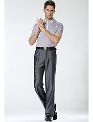 2016 Men's trousers middle-aged waist straight pants loose suit thin section of middle-aged non-iron trousers