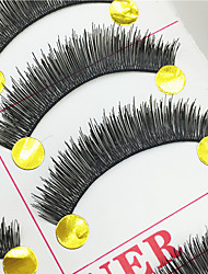 Eyelashes lash Full Strip Lashes Eyes Thick Volumized Handmade Fiber Black Band 0.10mm 11mm