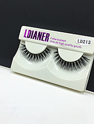 Full Strip Lashes Eyes Thick Handmade mink hair eyelash Black Band 0.10mm 12mm LD213