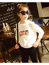 Girl's Casual/Daily Print TeeCotton Spring / Fall White