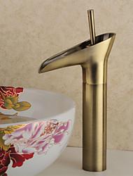 antique cachoeira centerset com válvula de cerâmica única alça de um buraco por, torneira pia do banheiro