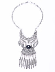 European And American Fashion Retro Jewelry Necklace Tassel Leaves Alloy