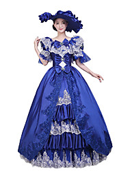 One-Piece/Dress Gothic Lolita / Sweet Lolita / Classic/Traditional Lolita / Punk Lolita Steampunk® Cosplay Lolita Dress Blue Floral