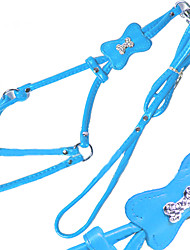 Harness Leash Casual Solid PU Leather