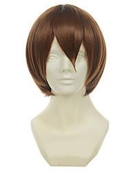 o príncipe da fuji tênis Syusuke castanho curto peruca cosplay reta