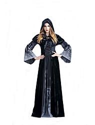 Cosplay Kostuums Tovenaar/Heks Film Cosplay Zwart Effen Kleding / Shawl Halloween / Carnaval Vrouwelijk Polyester