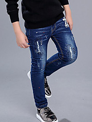 Boy's Casual/Daily Print JeansCotton Winter Blue