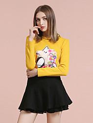 Jupes Aux femmes Mi-long / Au dessus du genou simple Laine / Acrylique / Polyester / Nylon / Spandex Non Elastique