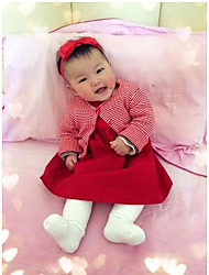 Baby Casual/Daily Solid Clothing Set-Cotton-Spring / Fall-Red