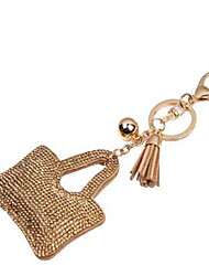 Diamond Tassel Leather Key Chain Car Pendant