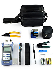 9 no jogo de ferramentas 1 fibra óptica FTTH com cutelo fibra fc-6s e medidor de potência óptica 5 km visual de falhas fio localizador de