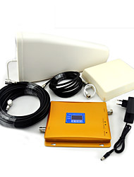 2G GSM 900mhz DCS 1800mhz 4G LTE Signal Booster Mobile Phone Signal Repeater with Log Periodic Antenna / Panel Antenna