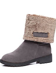 Women's Boots Fall Winter Other Fleece Fur Casual Dress Low Heel Black Yellow Gray Other