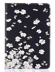 Pour Avec Support Clapet Motif Coque Coque Intégrale Coque Fleur Dur Cuir PU pour Apple iPad Mini 4 iPad Mini 3/2/1