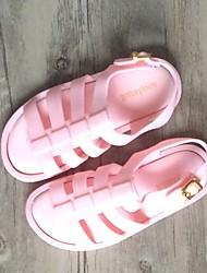 Girls' Sandals Slingback PVC Summer Casual Slingback Flat Heel Black Fuchsia Blushing Pink Flat