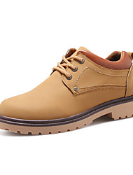 Men's Oxfords Spring Fall Comfort PU Casual Low Heel Lace-up Black Blue Brown Other