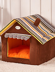 Cat Dog Bed Pet Mats & Pads Portable Yellow Coffee Green