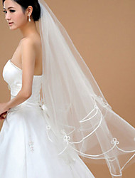 Wedding Veil One-tier Fingertip Veils Tulle