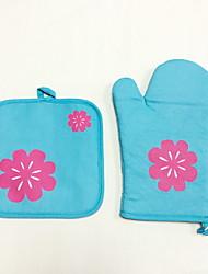 2 Pças. Pot Holder & Luva de Forno For Para utensílios de cozinha / para Bread / para bolo / para biscoito / para Pizza TecidoEcológico /