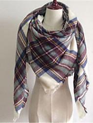 Women Polyester Scarf,Casual SquareGeometric