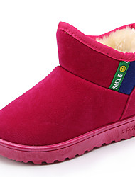 Girl's Boots Spring Fall Winter Comfort Suede Outdoor Casual Athletic Low Heel Black Brown Red