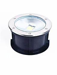 circular levou lâmpada subterrânea integrada