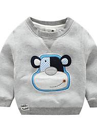Tee-shirts Boy Imprimé Décontracté / Quotidien Coton Hiver / Automne Bleu / Orange / Gris