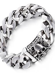kalen® crâne punk viking charme bracelets bracelets haute 316L poli en acier inoxydable de liaison lourde chaîne pour hommes cadeaux