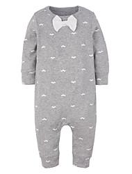 малыш Набор одежды-На каждый день,С принтом,Хлопок,Осень-Белый / Серый
