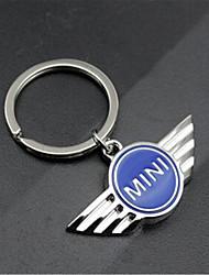 metal mini carro padrão oca anel chave do carro