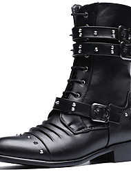 Men's Boots Spring/Fall/Winter Cowboy / Western Boots / Combat Boots Synthetic Party & Evening/Casual Rivet Black
