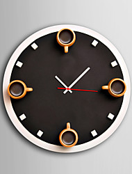 E-HOME®  Coffee Cup on The Clock Clock in Canvas 1pcs