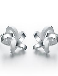 SILVERAGE 925 Sterling Silver Weaved Star Stud Earrings
