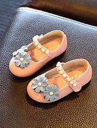 Para Meninas Bebê Rasos Conforto Primeiros Passos Couro Ecológico Primavera Verão Outono Casual Conforto Primeiros PassosApliques Pérolas