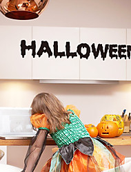 Holiday Halloween English Words Wall Stickers Removable DIY Living Room Dining Room Wall Decals