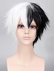MONOKUMA Cosplay Black and White Color Short Hairstyle Halloween Cosplay Men Wig Party Fashion Custome Wig